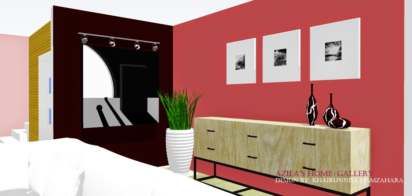 Rekabentuk Hiasan Dalaman Rumah teres dengan konsep moden, simple dan