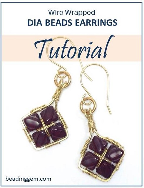 Wire Wrapped Dia or Silky Beads Earrings Tutorial - The Beading ...