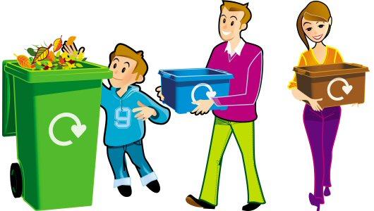 Κουτιά ανακύκλωσης χαρτιού για