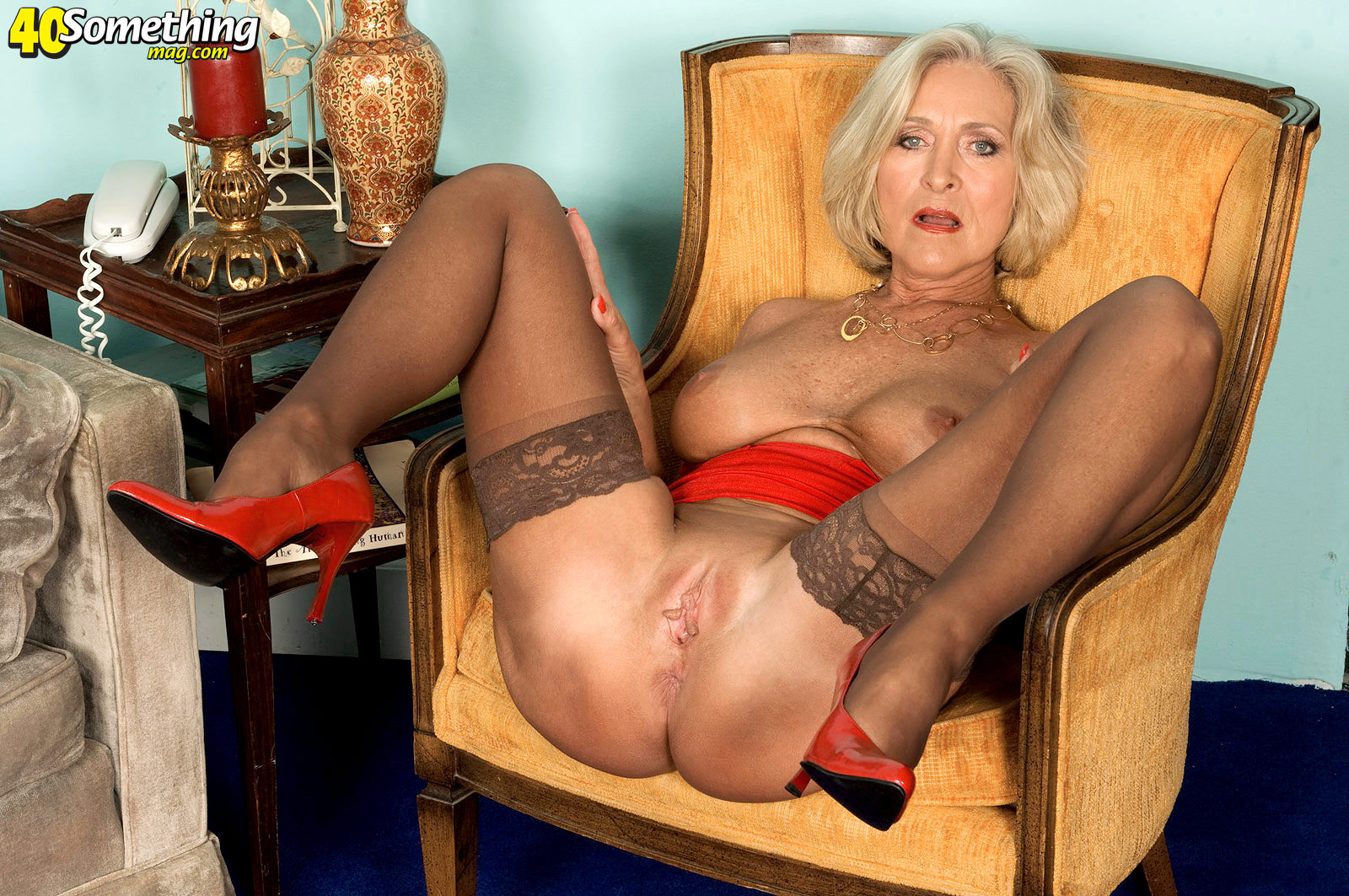 Blonde southern milf not absolutely