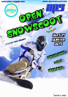 1 er Open de snowscoot 26 et 27 Janvier 2013   station de Piau Engaly.