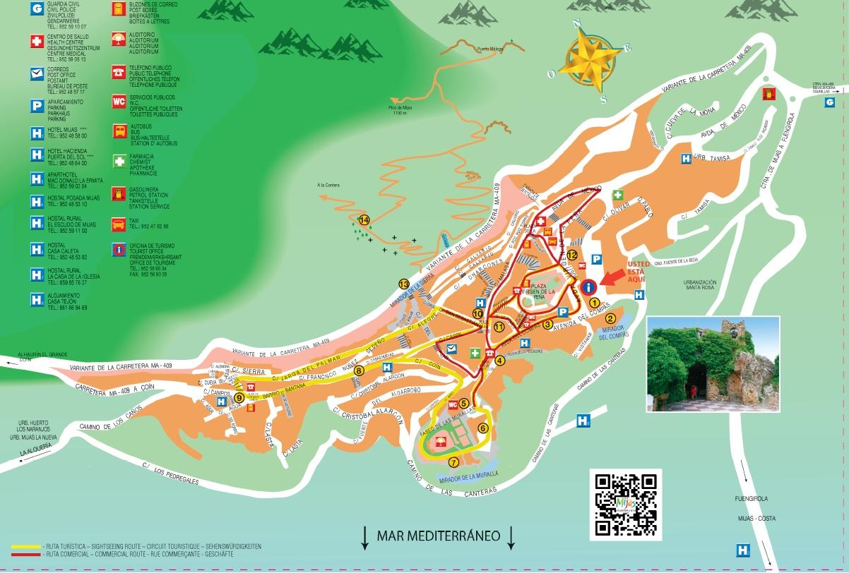 Turismo de m jas mapas de mijas for Oficina de turismo de mijas