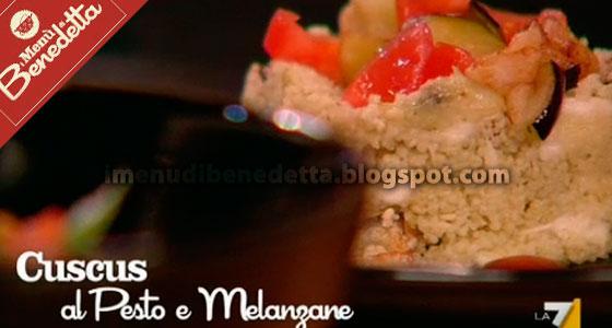 cuscus con pesto e melanzane fritte