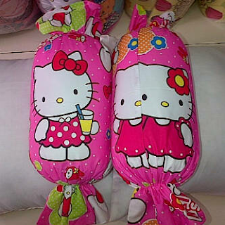 Jual Bantal Permen Hello Kitty Pink lucu murah