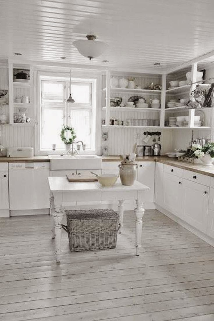 Arredamento stile shabby chic arredare interni ed esterni - Pavimento per cucina ...