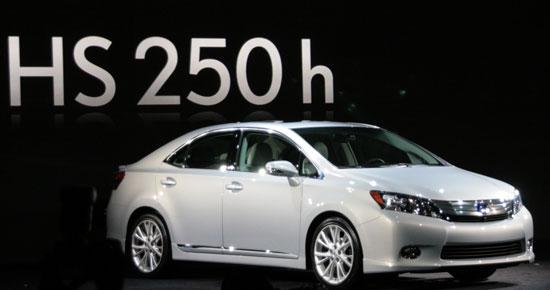 New Lexus HS 250h hybrid sedan Concept
