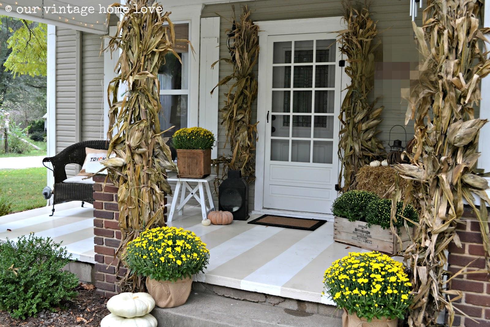 Our Vintage Home Love Autumn Porch Ideas