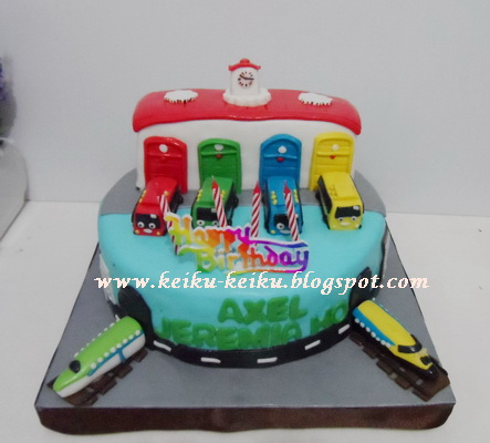 Tayo Bus Birthday Cake