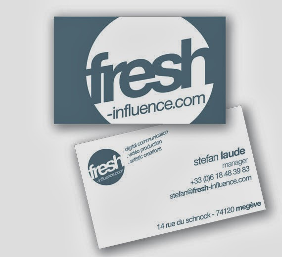 carte de visite fresh influence