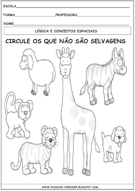 ATIVIDADES DE LÓGICA. INFANTIS