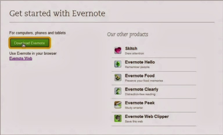 download evernote for experience