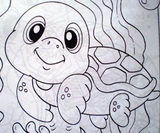 Desenhos Para Pintar A Tartaruguinha