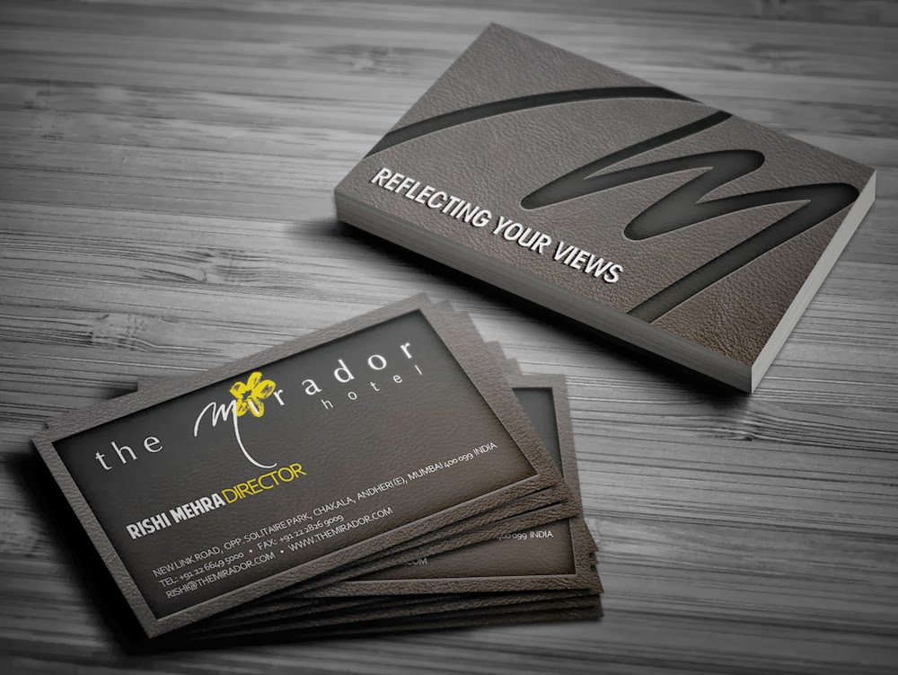 Kreative quest mirador hotel business card options proposed business card designs for mirador hotel mumbais first luxury designer hotel colourmoves