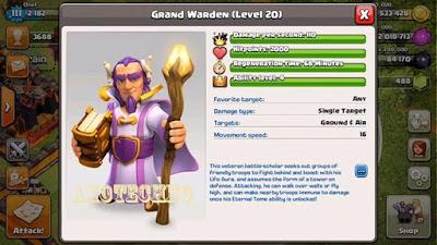 Grand Warden, Hero Terbaru Clash of Clans