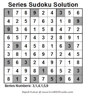 Series Sudoku (Fun With Sudoku #50) Solution