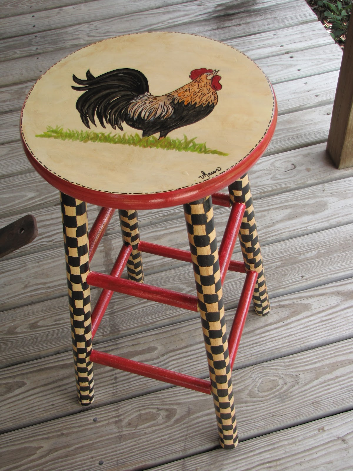 Sold the first Rooster Bar Stool fast and had a request for another one Sold it today