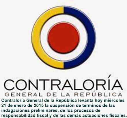COLOMBIA: CGR Reanuda Términos de procesos de Responsabilidad Fiscal