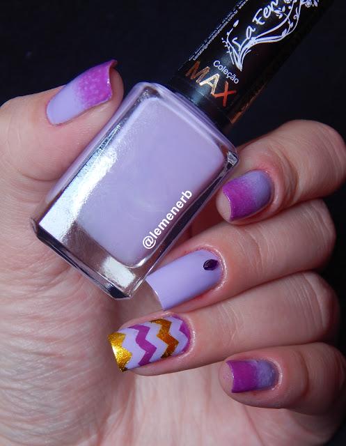 degrade nail art