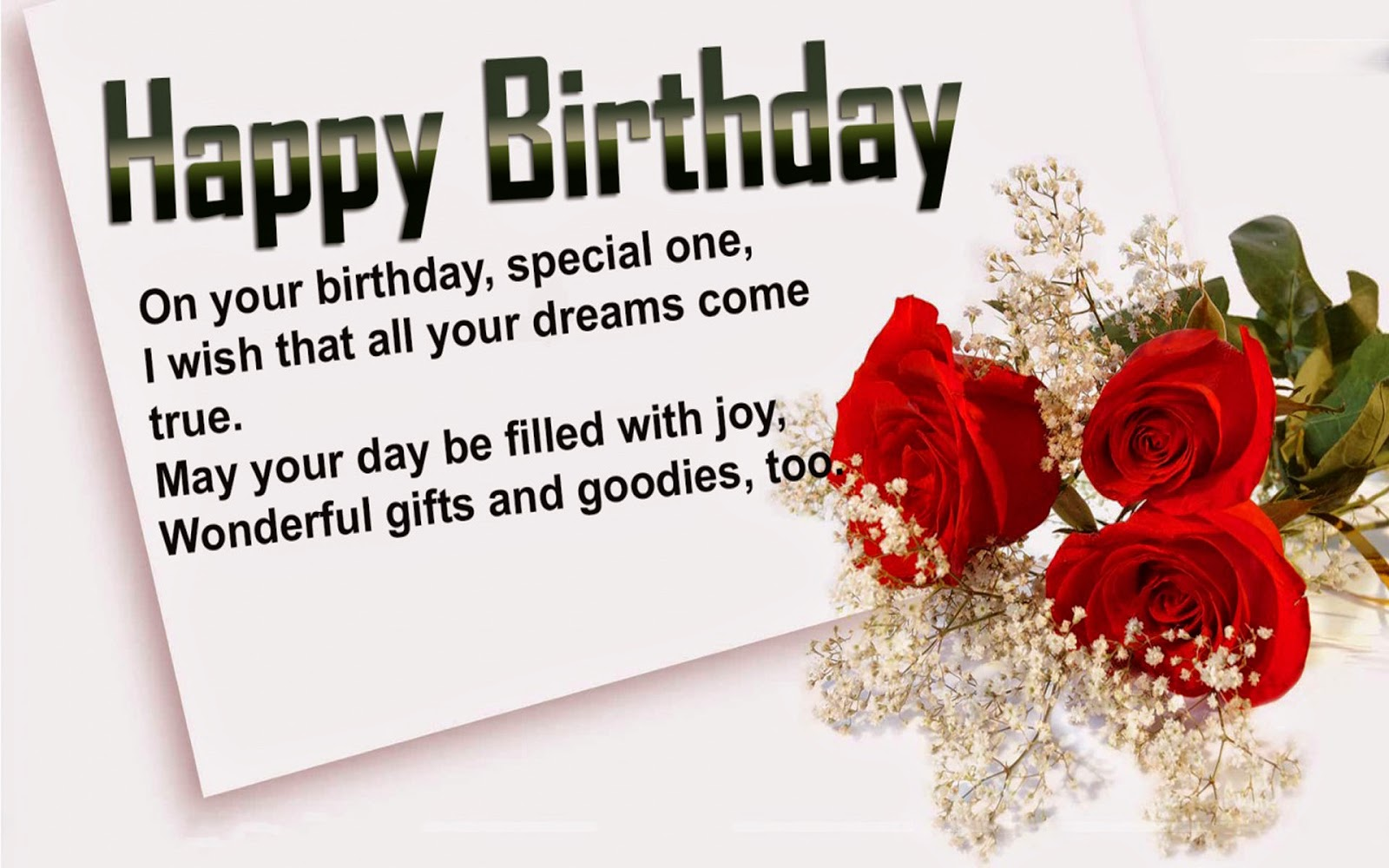 Birthday quotes for husband and wife in english poetry likers on your birthday special one i wish that all your dreams come true may your day be filled with joy wonderful gifts and goodies too m4hsunfo