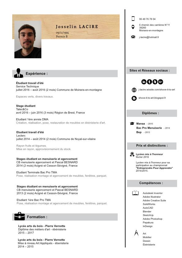 CV Lacire Josselin