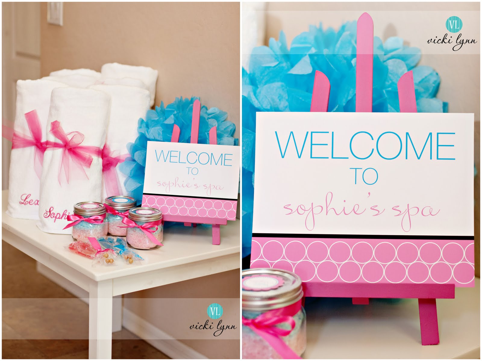 Birthday sale the tomkat studio blog - Last Weekend I Had The Pleasure Of Styling This Fabulous Spa Party For A Sweet Seven Year Old Sophie Lucky For Me I Worked With Her Creative Mom