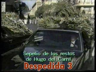videos de television sobre la muerte de hugo del carril
