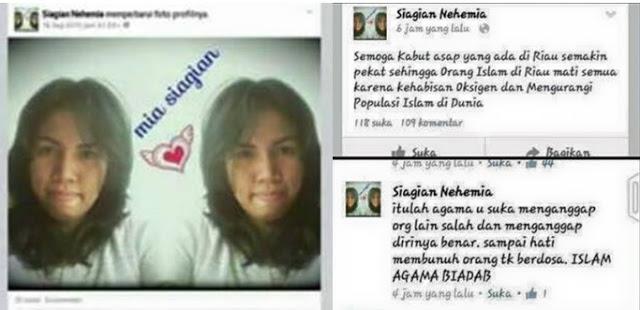 mia siagian Wanita Ini Berharap Semua Muslim Di Riau Mata Karena Asap
