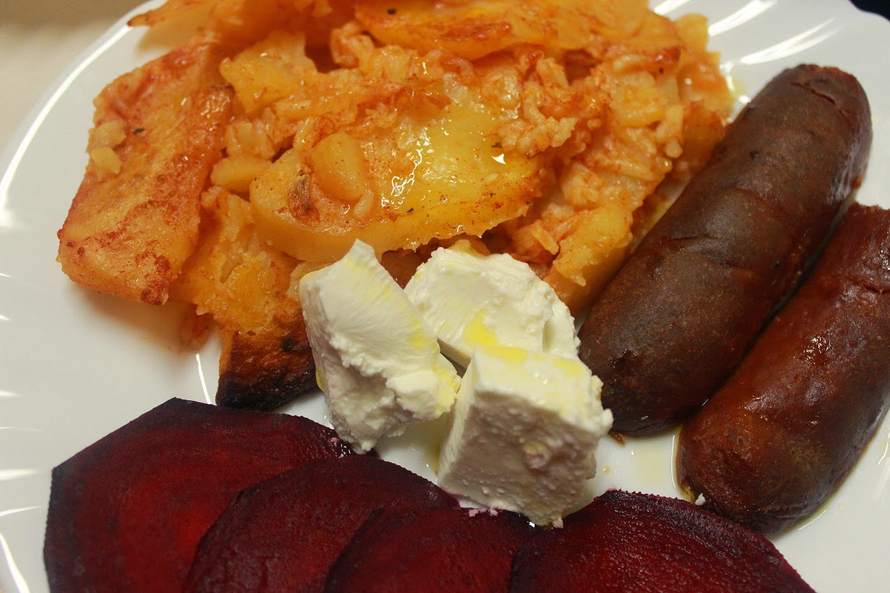 Krompir sa rizom i kobasicom