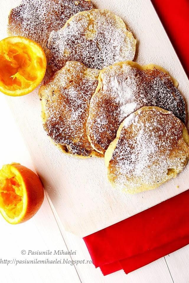 Pancakes cu suc de portocale
