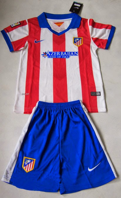Detail Produk Jual Jersey Bola Anak Atletico Madrid Home 2014-2015