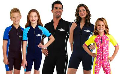 Sun protective bathing suits for the whole family from Australian clothing company Stingray®