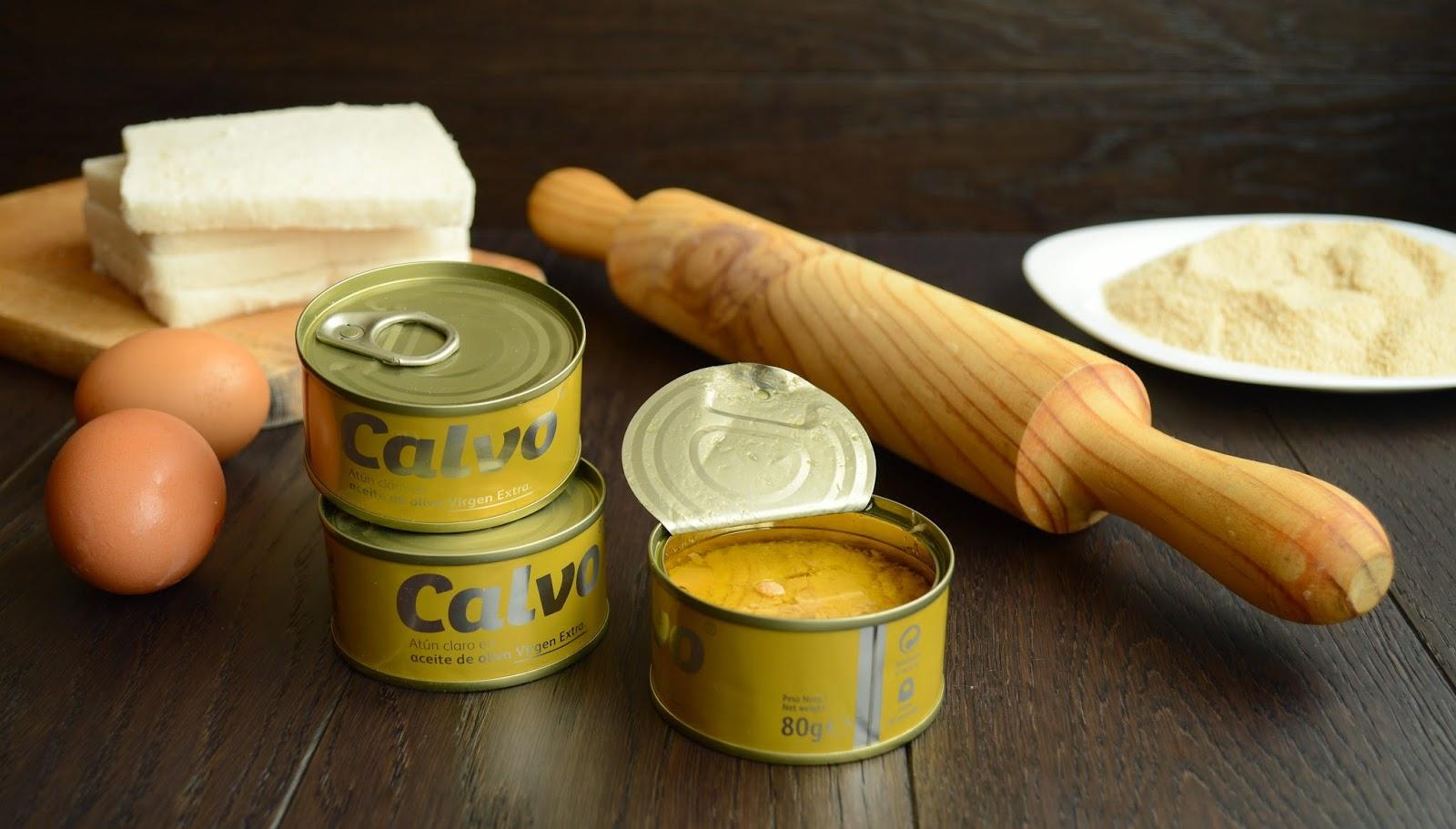 Ingredientes Flamenquines de atún. Calvo