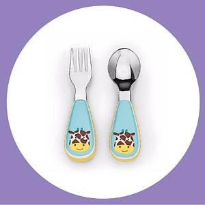Skip Hop Zootensils funky giraffe baby cutlery
