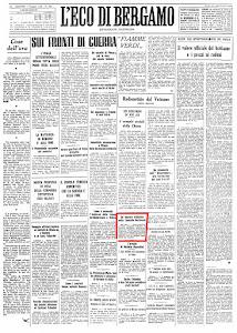 """""""ECO DI BERGAMO"""" 1 MAGGIO 1945"""