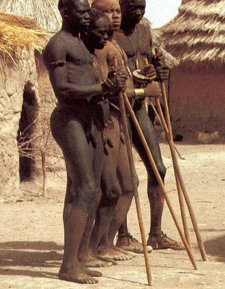 Naked African Tribe Man