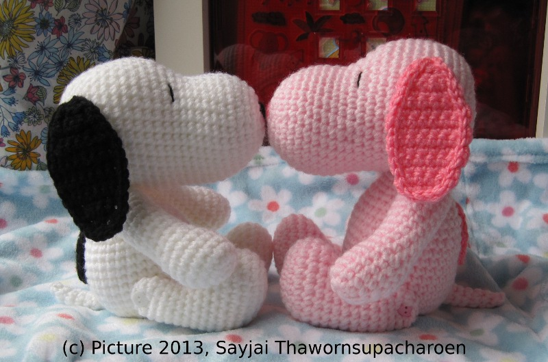 Pink Snoopy - Sayjai Amigurumi Crochet Patterns ~ K and J ...