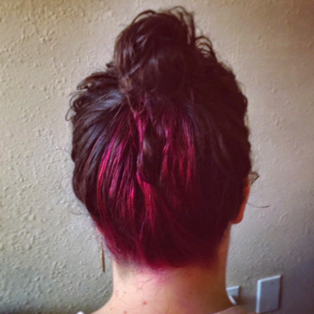 pink peekaboo dye