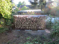 firewood, shed, filled up