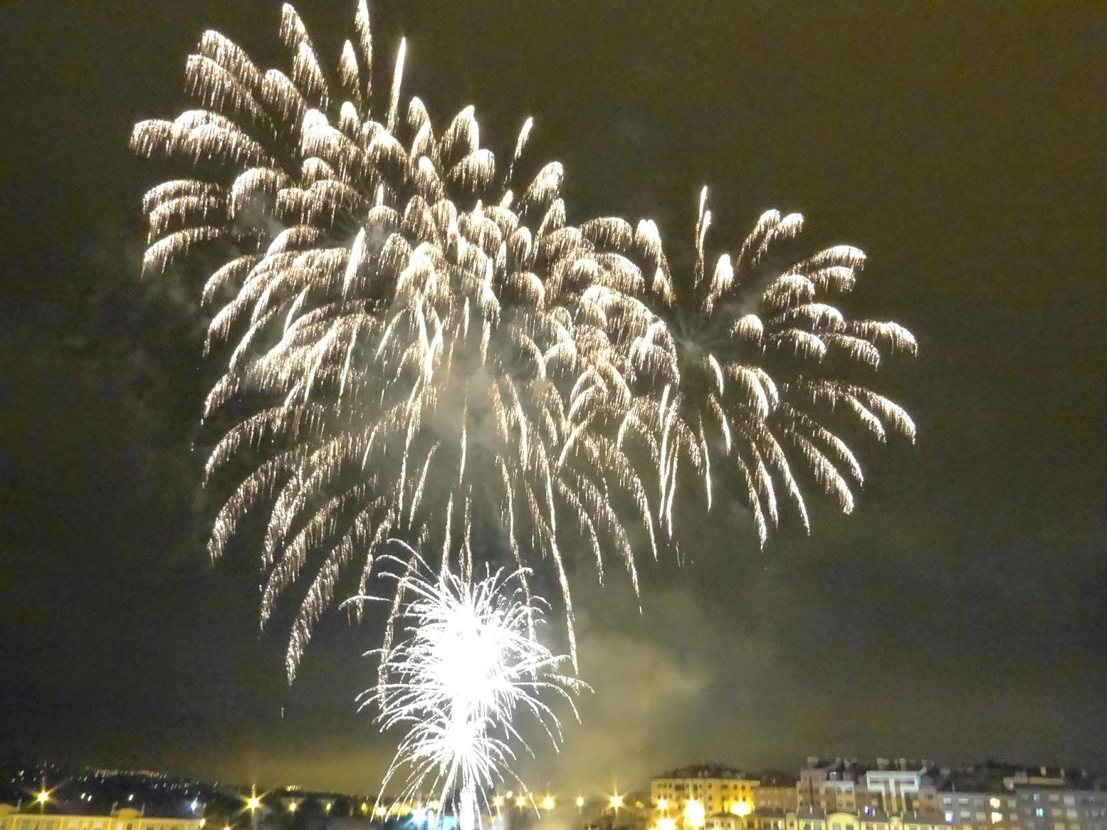 asturias fiesta de prao fuegos artificiales fireworks