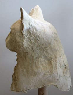 paper mache cat sculpture Shannon Reynolds