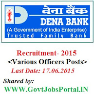 Dena Bank Recruitment 2015