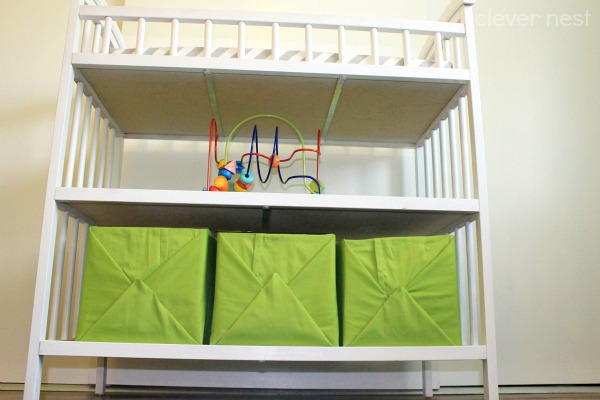 Nautical boy's room tour! no-sew fabric storage bins