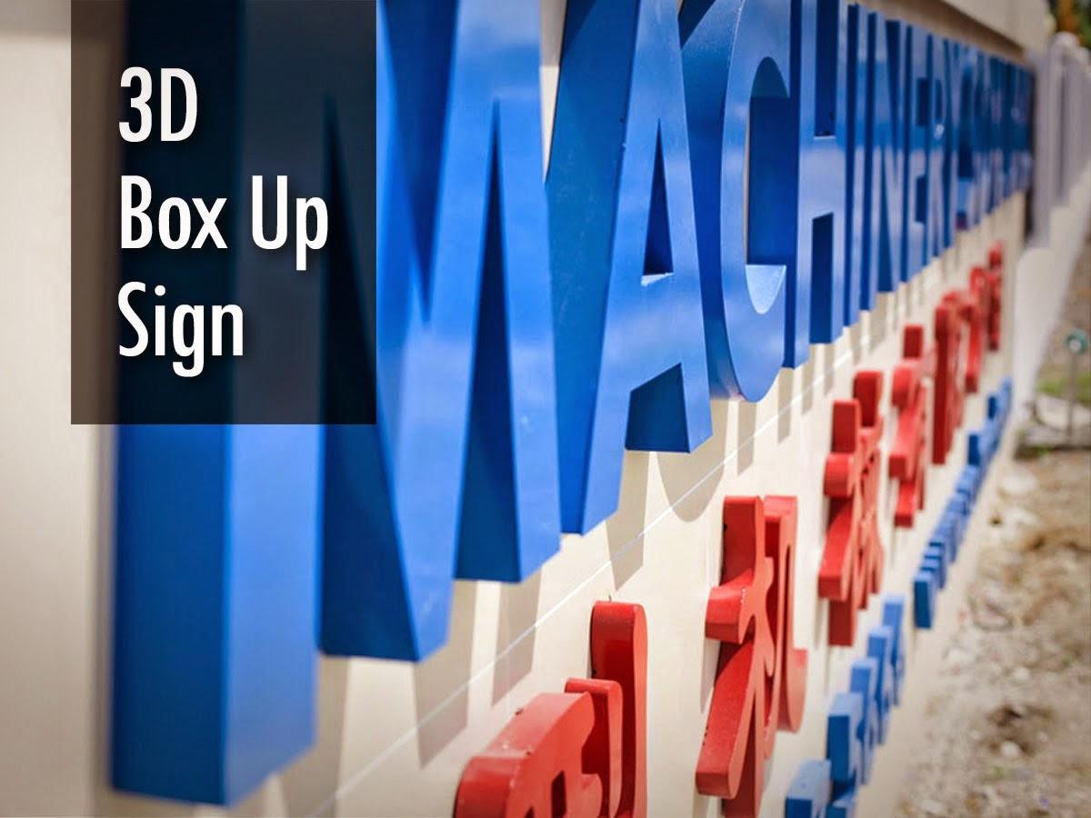 3D Box Up Sign, 3D Box Up Lettering, 3D Letters Signs, 3D Dimension Letter, 3D Dimensional Letter, 3D Channel Letters, 3D Signage, 3D Box Up Lettering ...