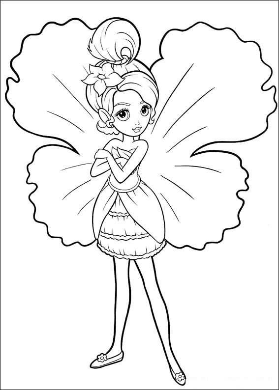 Flower coloring for Tinkerbell christmas coloring pages