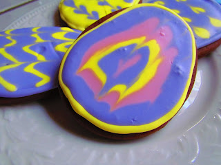 Tie Dye Chocolate Sugar Cookies