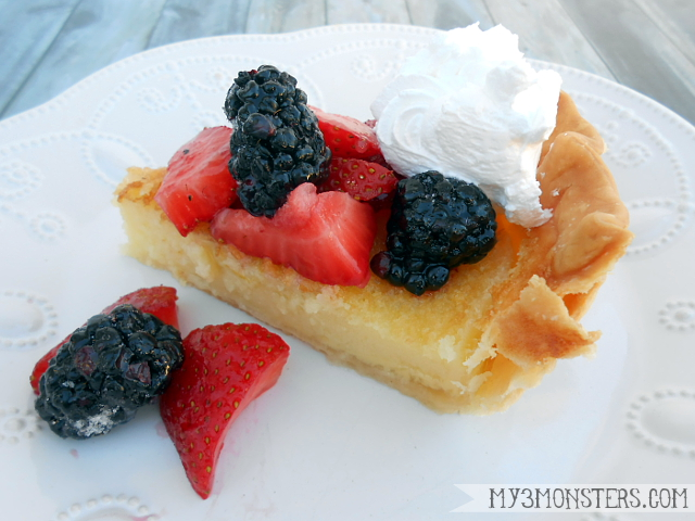 Easy and delicious Buttermilk Pie recipe at my3monsters.com