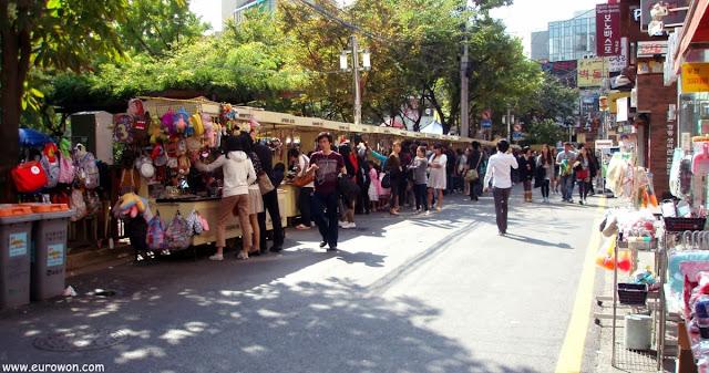 Casetas de venta fuera del Free Market