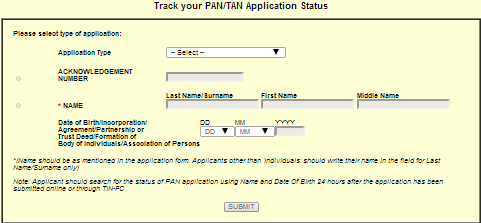 Exam Grade Pan Card Online Application Form Income Tax