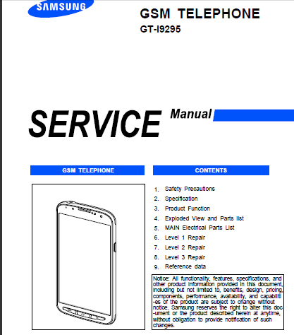 Samsung Galaxy S4 Active GT-I9295 Service Manual ... - photo#27