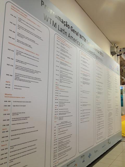 Programação dos Seminarios e Conferencias da WTM